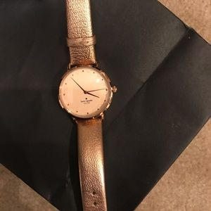 Almost new Kate Spade rose gold watch